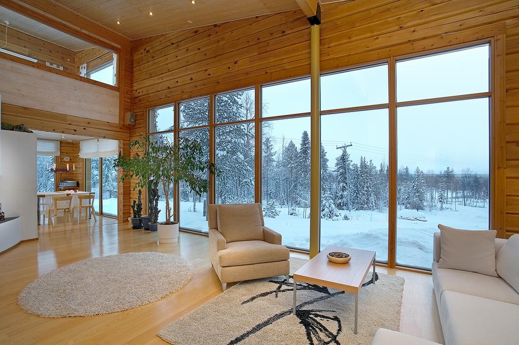 деревянный дом интерьер