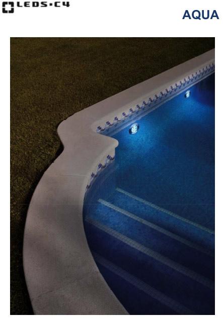 освещение LED в бассейне